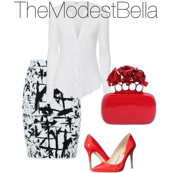 The Modest Bella by silviartorresh on Polyvore featuring polyvore, fashion, style, James Perse, BCBGMAXAZRIA, BCBGeneration and Alexander McQueen