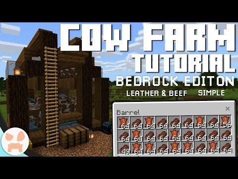 Cow Farm Tutorial Bedrock Edition 1 12 Leather Beef Semi Auto Youtube In 2021 Minecraft Construction Minecraft Redstone Minecraft Plans