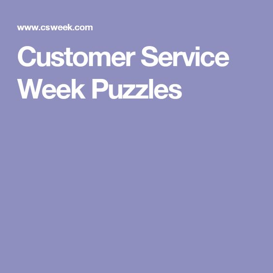 Customer Service Week Puzzles