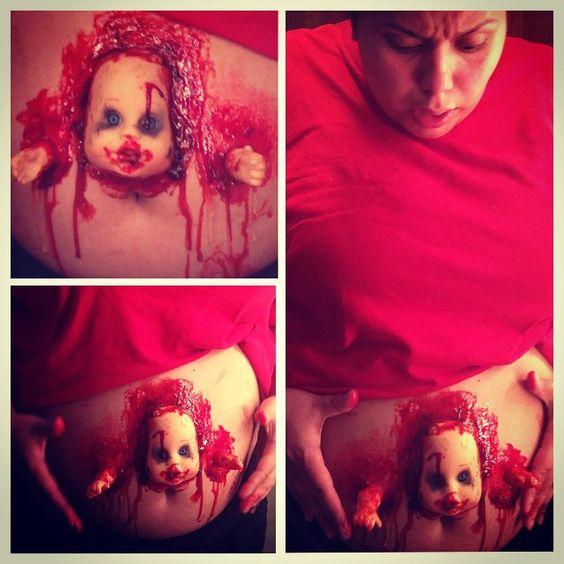 Halloween Makeup Pregnant Halloween And Zombies On Pinterest