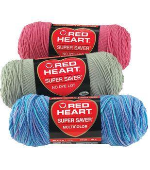 Red Heart Super Saver Yarn 3pk