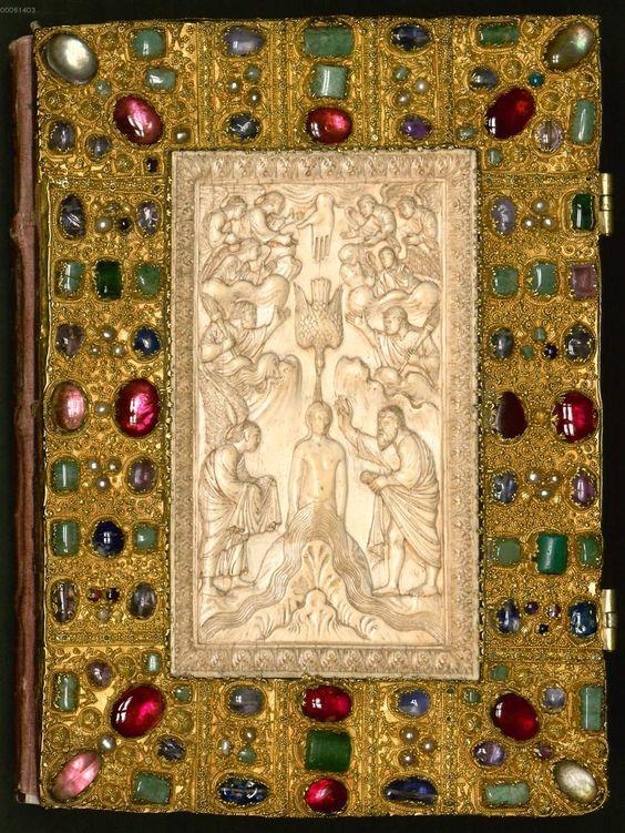 Kat. 9: Evangeliar (2. Viertel 9. Jh.).