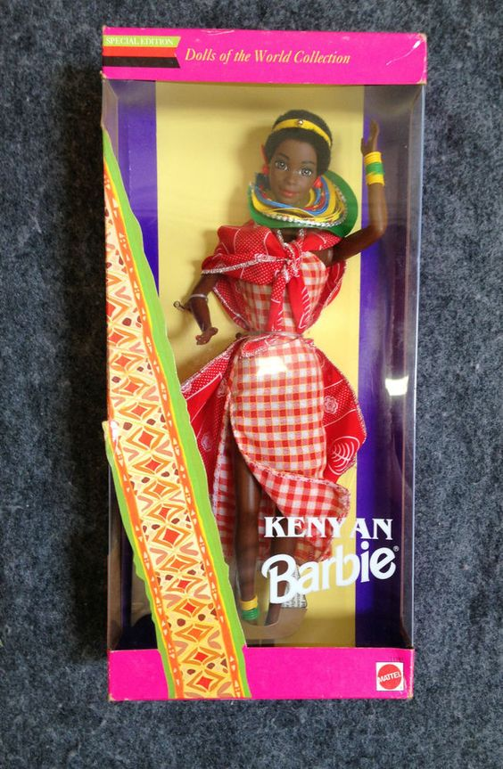 1993 - Kenyan-  Dolls of the World Collection- Barbie #Mattel…
