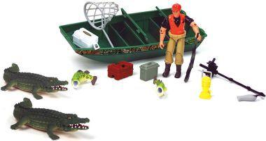 Cabela 39 s cabela 39 s jon boat crocodile play set golden for Cabela s fishing boats