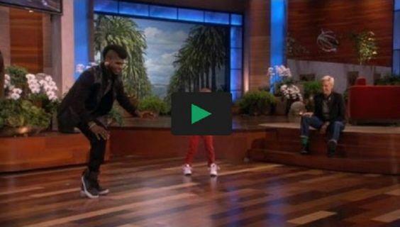 Um jovem de 4 anos dan�ando com seu �dolo na emiss�o Ellen!