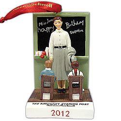 Norman Rockwell 2012 Teacher Ornament!