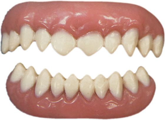 """Teeth FX, the new revolutionary teeth prosthetic in market today. This patented technology garnered Tinsley Transfers an Academy Award for Technical Achievement. These """"cannibal"""" teeth are easy to apply and look very real! #t4aw #tinsleytransfers #teeth #fx #cannibal"""