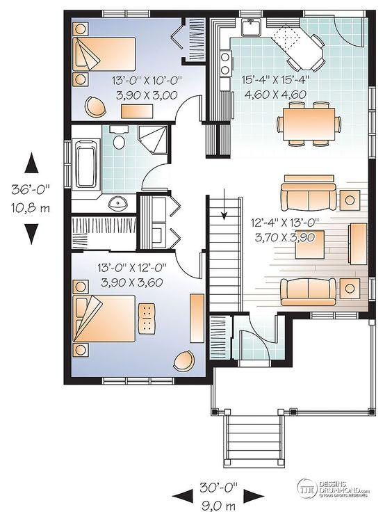 Détail du plan de Maison unifamiliale W3126