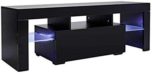 Best Seller Tv Stand Led Light Wood Television Stand Media Storage