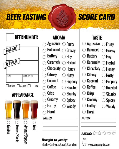 Free Beer Tasting Score Cards Printable How To Host A Beer Tasting Beer Tasting Party Printables Beer Tasting Parties Craft Beer Tasting