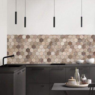 Azulejos Hexagonales De Maderas Japandi Vinilo Autoadhesivo Lavable Para Muebles Suelos Y Paredes Lokoloko Azulejo De Cocina Fondo De Mosaico De Cocina Vinilos Para Muebles
