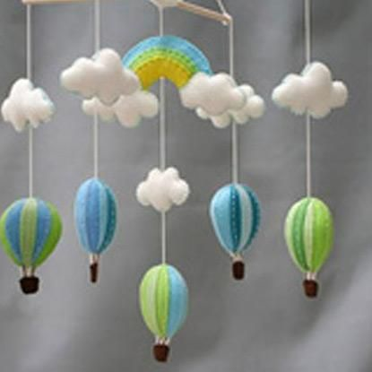 Craft ideas handmade felt parachute wind chimes ideas for Wind chime craft projects