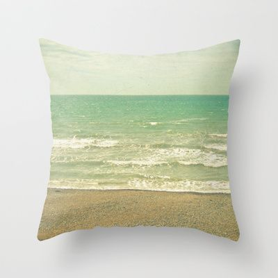 The Sea, the Sea Throw Pillow by Cassia Beck - $20.00