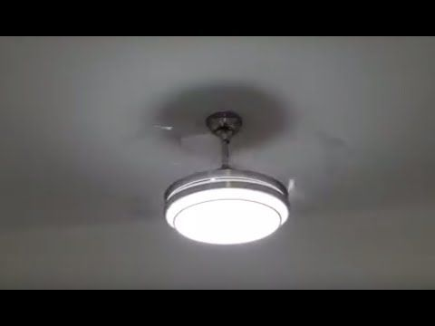 Retractable Blades Ceiling Fan Review Youtube Ceiling Fan