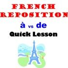 This is a quick lesson to teach and compare French Prepositions A vs DE.  Lesson compares the usage of these prepositions and walks students through English Grammar to better understand French Grammar.