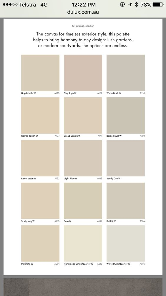 Dulux exterior paint colour chart crowdbuild for - Exterior paint colours nz image ...