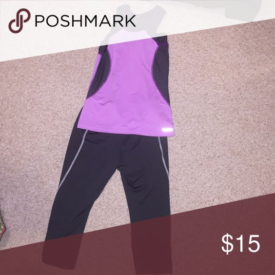 Reebok workout set. Top had built in bra and pants are capris. Would fit a size Small lady. NWOT Reebok Pants Leggings