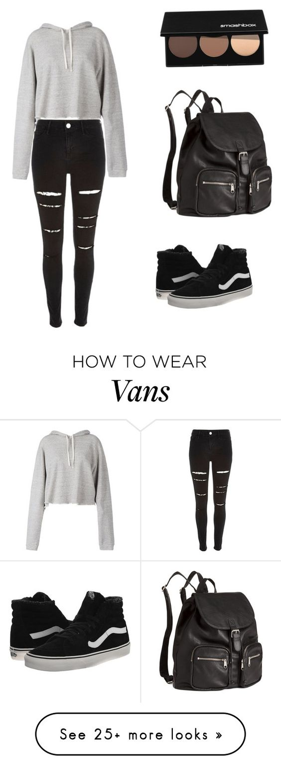 """Untitled #294"" by noamtmc on Polyvore featuring Faith Connexion, H&M, Smashbox, River Island and Vans"