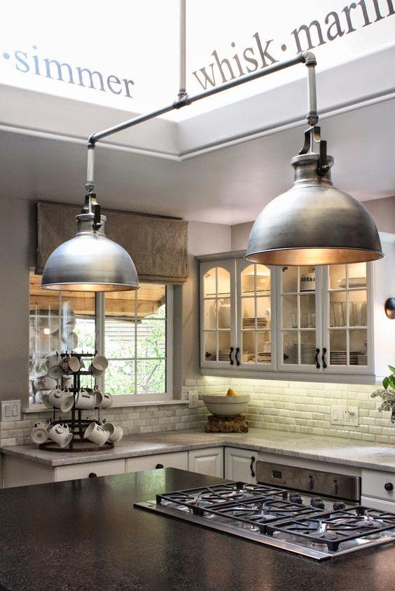industrial style kitchen island lighting operation