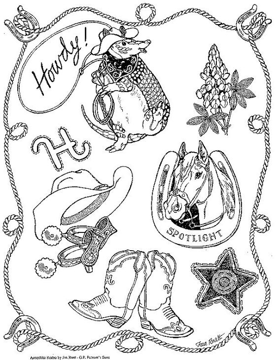 coloring pages rodeo and coloring on pinterest