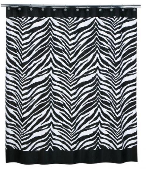 Black And White Zebra Print Shower Curtain Printed Shower