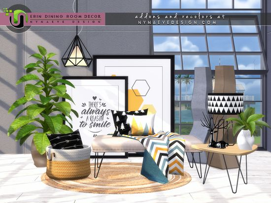 Give Your Sim S Dining Room Energy And A Happy Glow With Small Details That Bring The Modern Concepts Together Whi Sims 4 Kitchen Sims House Dining Room Decor