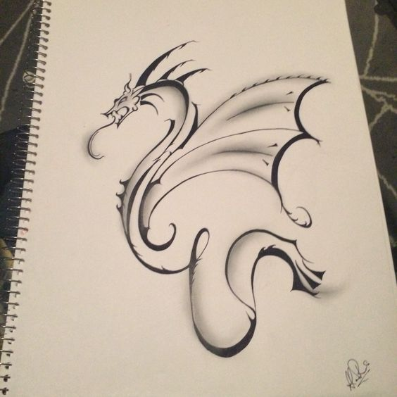 Simple dragon!!' Came out better than I expected