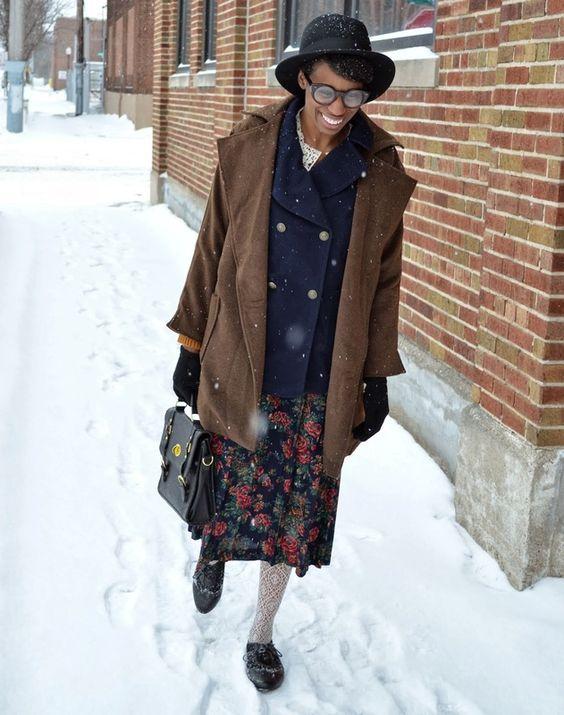Blueberry, Cinnamon & Cream #ootd #winterstyle #style #fashion #winterfashion #fashionblog #thriftstyle #thriftfashion #thrifted #thrifting #vintagestyle #vintagefashion #rustic #florals #modcloth #urbanog