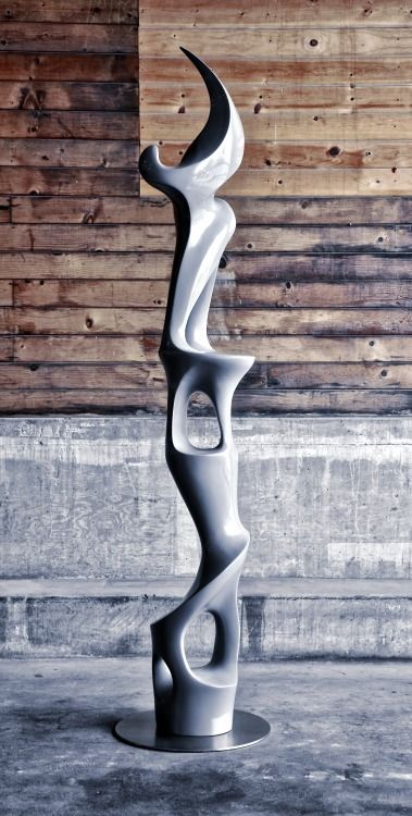 """""""mod totem"""" - polished gel-coat casting merging sculpture and functional decorative. """"new modern aesthetic"""" / """"new modern complexity"""""""