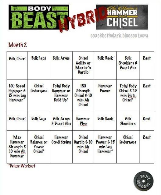Body Beast, Hammer Body Beast Beach Body Pinterest Body - beast workout sheet