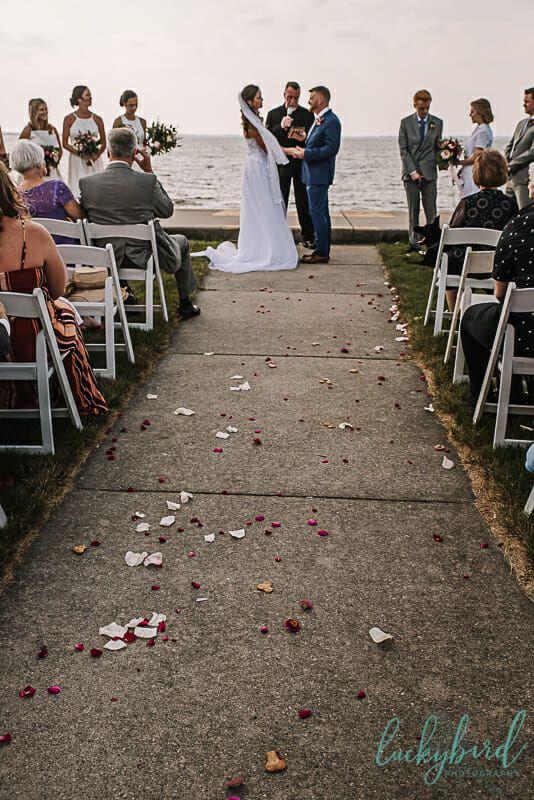 Oregon Ohio Waterfront Wedding By The Beach Luckybird Photography Ohio Wedding Venues Sunset Wedding Photos Summer Wedding Photos