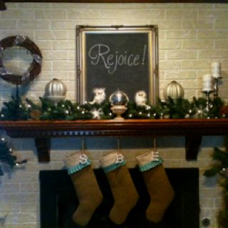 Pinterest inspired mantle and stockings