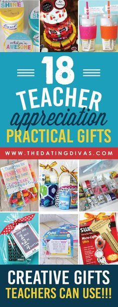 Practical Teacher Appreciation Gifts- fun gift ideas that teachers will actually USE!!! www.TheDatingDivas.com: