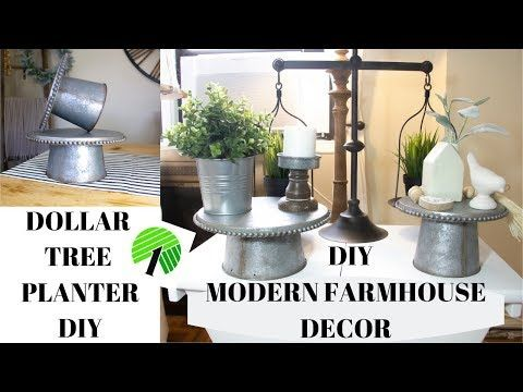 Diy Modern Farmhouse Decor Dollar Tree Planter Diy Youtube Modern Farmhouse Diy Tree Planters Dollar Tree Decor