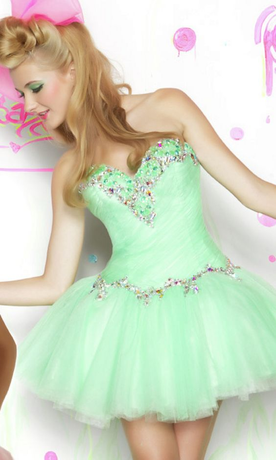 Short Strapless Babydoll Dress