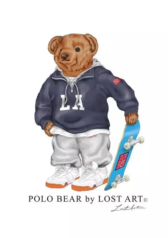 Fashion Polo Bear Bear Illustration Bear Logo Bear Art