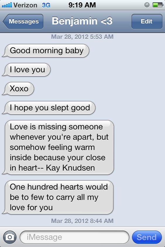 Good Morning Sunday Text Message : Oh how i love good morning text from my boyfriend