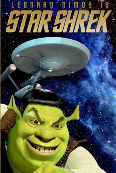 Star Shrek... fun Shrek themed movie mashups. #Moviemashup #Movies #Shrek