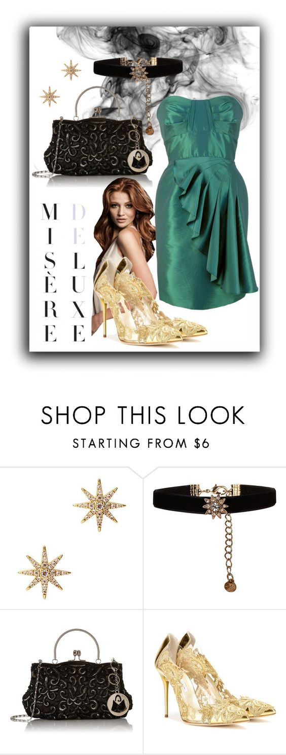 """""""Misère Deluxe"""" by julyralewis ❤ liked on Polyvore featuring Elizabeth and James, Accessorize, Oscar de la Renta, women's clothing, women's fashion, women, female, woman, misses and juniors"""