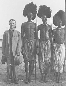 Heller with the Dinka Tribe of southern Sudan; rumor has it that they were really, really tall