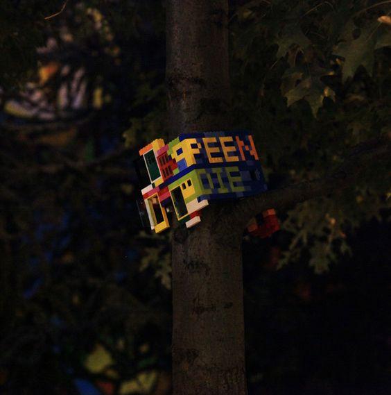 F**kn Die ; Jaye Moon Talks Tough on BKLN Streets - Brooklyn Street Art