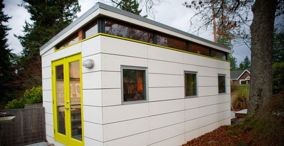 Options modern shed backyard studio pinterest for Modern house siding solutions