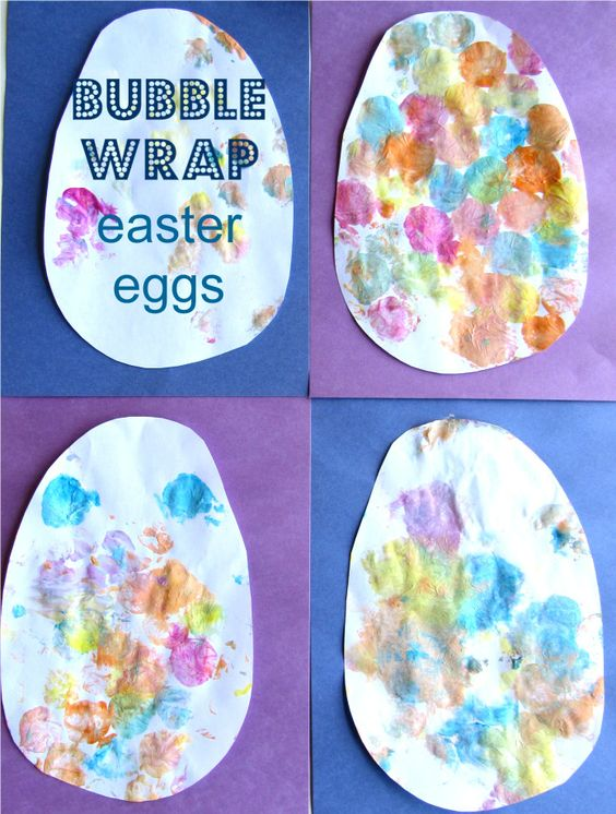 Easter Egg/Bubble Wrap painting