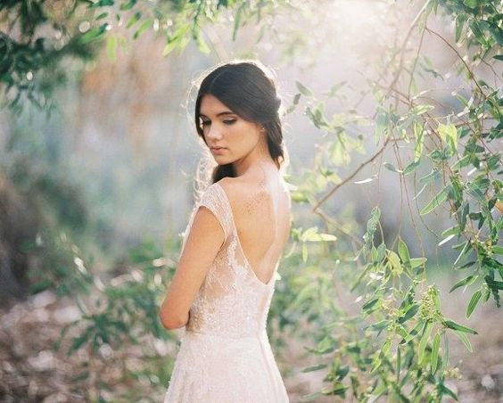 Delicate and Demure Woodland Bridal Session