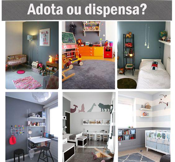 Adota ou dispensa? Paredes cinzas no quarto infantil