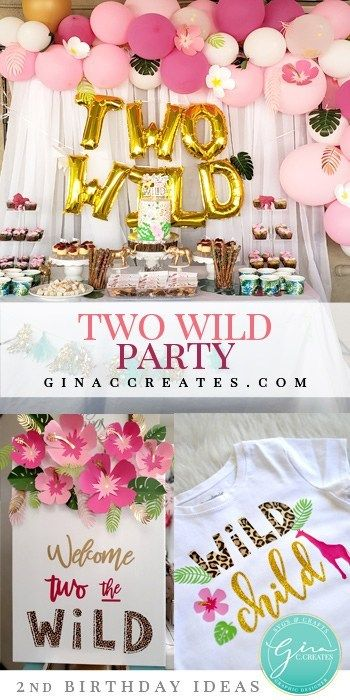 Two Wild Birthday Party Free Svg And Printable 2nd Birthday Party For Girl Girls Birthday Party Themes Wild Birthday Party
