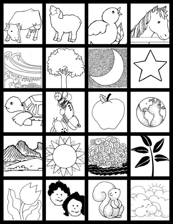 Creation Match Game Make Your Own Matching Cards For Each Day Of The Children To Up