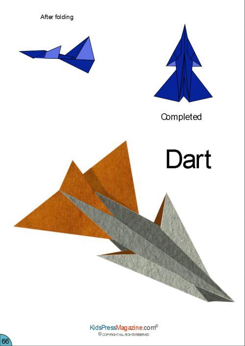 Paper Airplane Instructions  Dart  Avion En Papier Et Avion