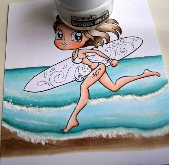 Copic Marker España: Tutorial - Fondo de Playa