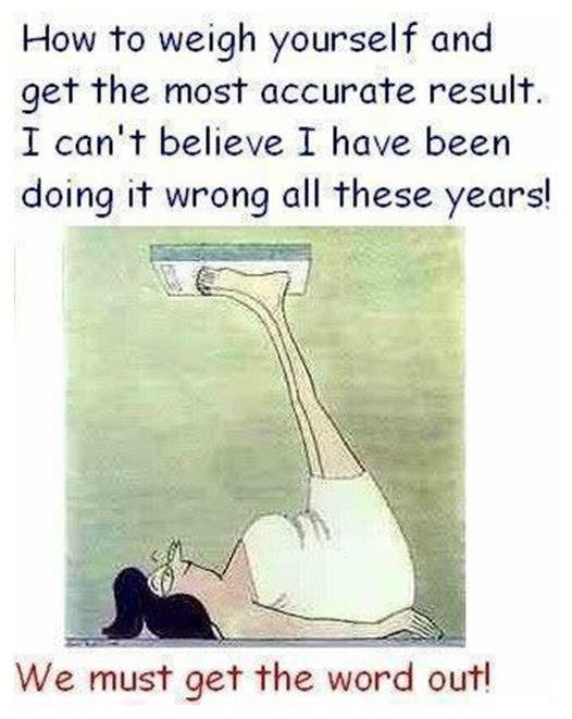 How To Weigh Yourself fittness